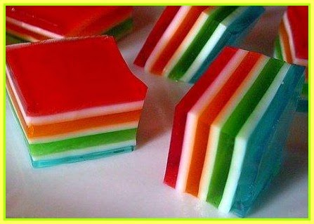 Colorful Layered Jello