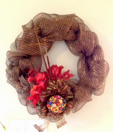 DIY Thanksgiving Wreath for Under $6
