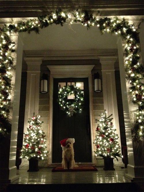 Front Door/Porch DIY Christmas Decor