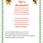 You've Been Jingled!  FREE Printable!