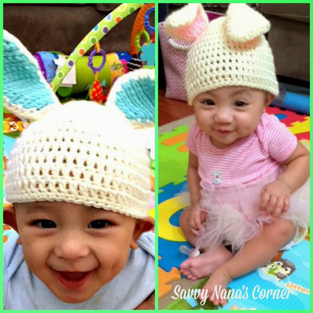 DIY Crochet Twin Bunny Hat & Diaper Cover Sets - FREE Patterns ...