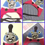 Crocheted Thomas the Train Inspired Hat with Ear Flaps – FREE PATTERN