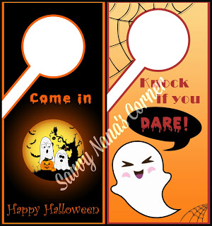 free printable halloween door signs savvy nana