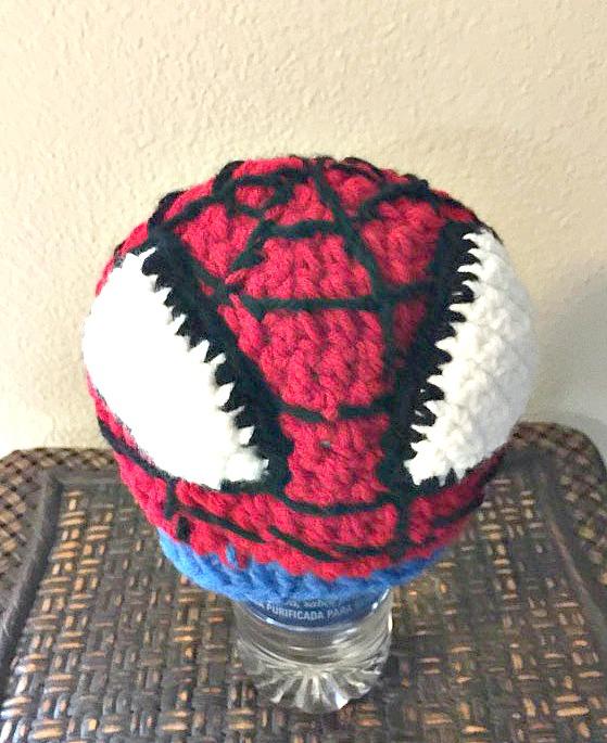 Crocheted Spiderman Hat - FREE Pattern - Savvy Nana 8c9caabaacf