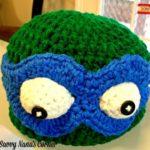 Kawabunga!  A TMNT Beanie with Mask – FREE Pattern