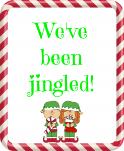 photograph about You've Been Elfed Printable titled Youve Been Jingled - Fresh new Cost-free Printables! - Savvy Nana