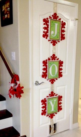 Diy Quot Joy Quot Wall Hanging Great For Closet Doors Savvy Nana