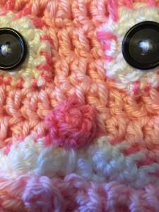 Peek-a-boo bunny hat