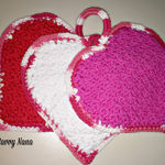 Valentine Heart Hot Pads – Free Pattern