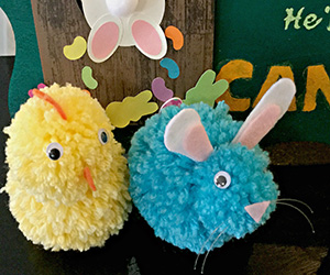 DIY Pom Pom Bunnies & Chicks