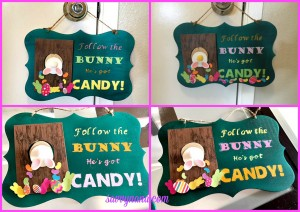 DIY Easter Plaque