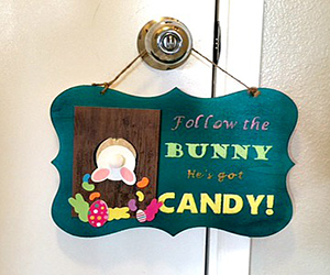 DIY Easter Plaque – Free Template