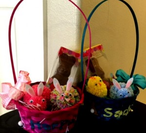 Stenciled Easter Basket