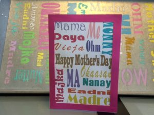 Subway Art Mother's Day Card