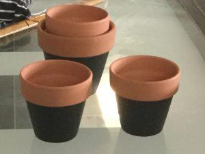chalkboard clay pots