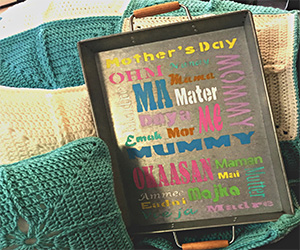 DIY Mother's Day Subway Art Tray