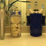DIY Stenciled Glass Vase