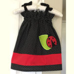 Appliqued Ladybug Toddler Sundress