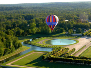 ballooning over chateau de fontainebleau