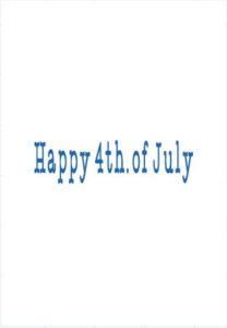 4th. of July Craft