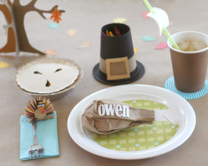 Kids' Thanksgiving  Craft Table