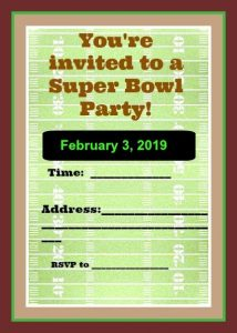 Plan Your Super Bowl Party – FREE Printables