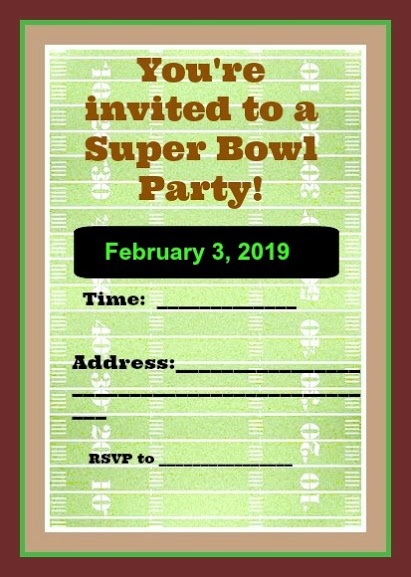 picture relating to Super Bowl Party Games Printable called Application Your Tremendous Bowl Occasion - Totally free Printables - Savvy Nana