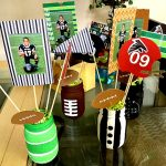 DIY Football Themed Painted Mason Jars