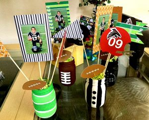 football photo centerpieces