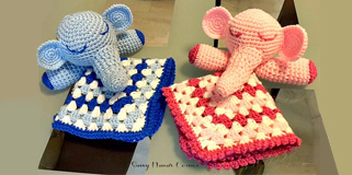 DIY Crochet Elephant Snuggly – FREE Pattern