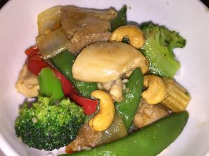 Cashew Chicken with Asian Veggies