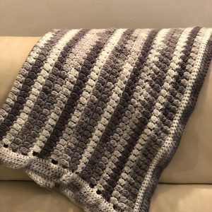 Cluster Stitch Crocheted Baby Blanket