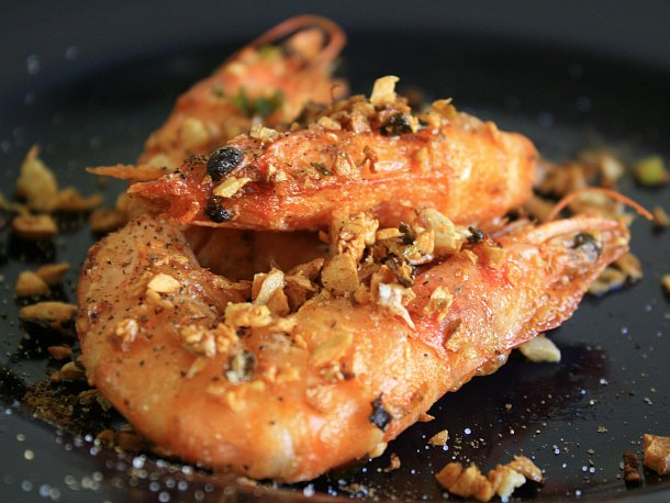 Chinese-Style Deep-Fried Salty Shrimp Recipe