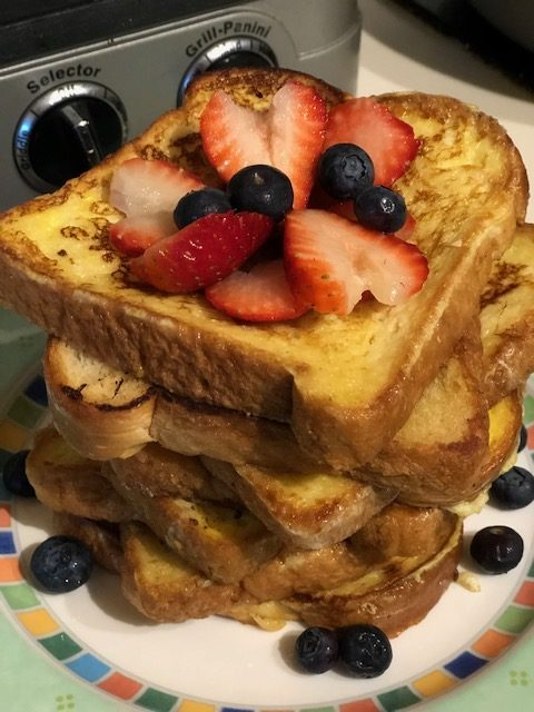 French Toast for Valentine's Day Breakfast