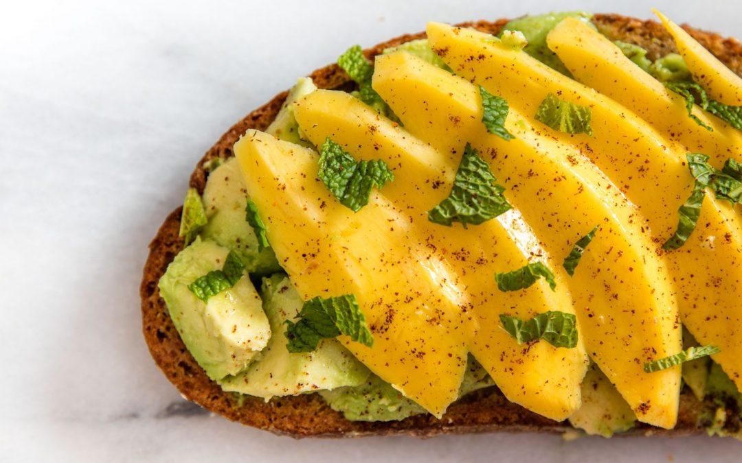 Avocado Toast With Mango, Chili Powder, and Mint Recipe