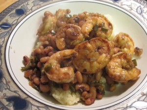 Shrimp with Black-Eyed Peas