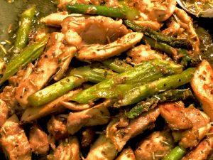 chicken & asparagus