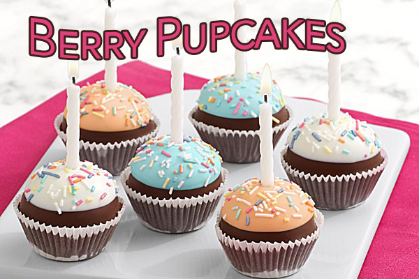 Very Berry Pupcakes