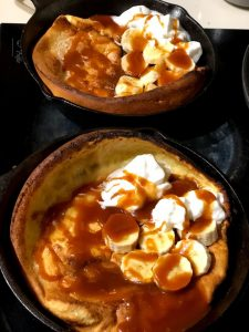 Banana Foster Dutch Baby for Father's Day
