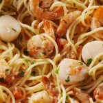 Italian Night - Tuscan Jumbo Scallops with Pasta Recipe