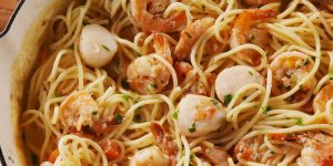 Italian Night – Tuscan Jumbo Scallops with Pasta Recipe