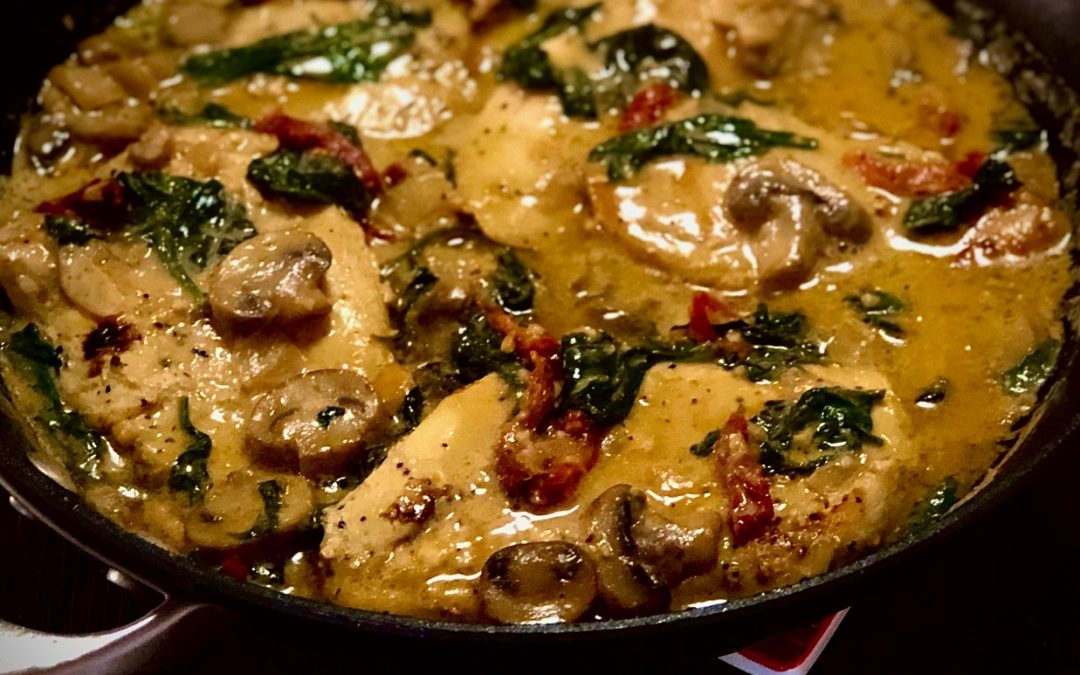 One Skillet Creamy Tuscan Chicken