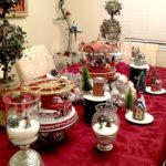 Christmas Decorating with Inexpensive Vases, Cake Stands, and Glassware.