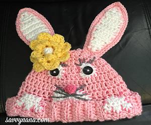 Peek-A-Boo Bunny Hat – Free Pattern