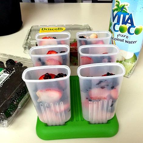 Fruit Filled Ice Pops