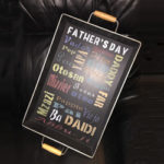 Father's Day Subway Art Tray