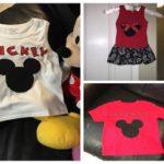 Mouse Ears Appliqued Dress & T-Shirts