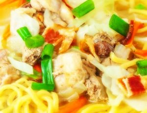 Pinoy (Filipino Style) Chicken Noodle Soup