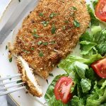 Pan Fried Herb Crusted Chicken Breasts