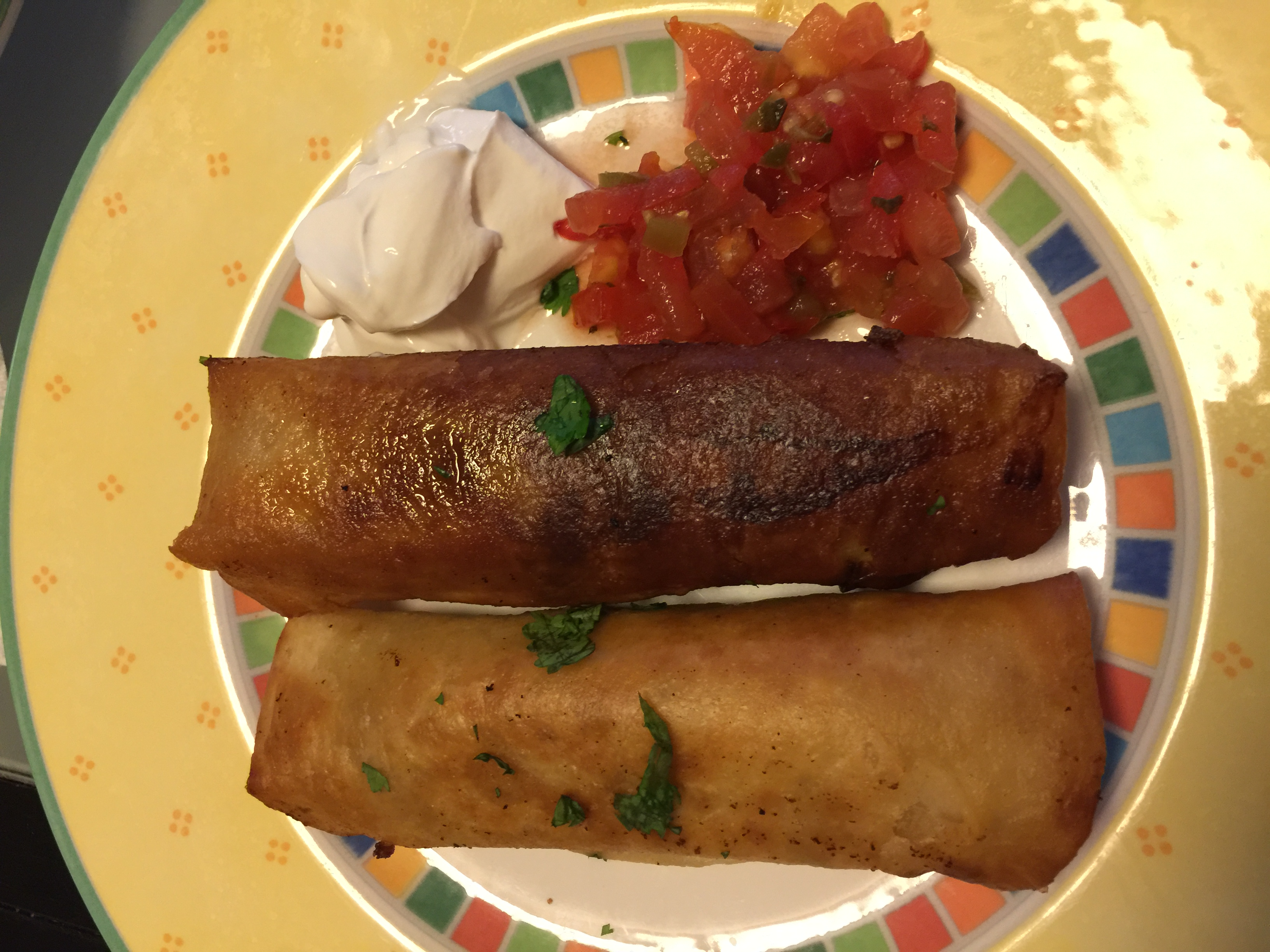 Ground Beef Chimichanga